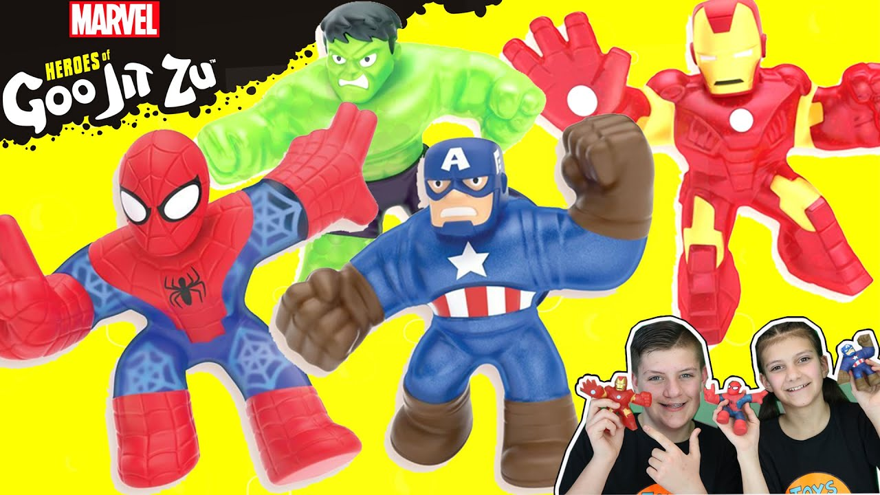Marvel Heroes of Goo Jit Zu Spider Man, Iron Man and Captain America Revealed #AD