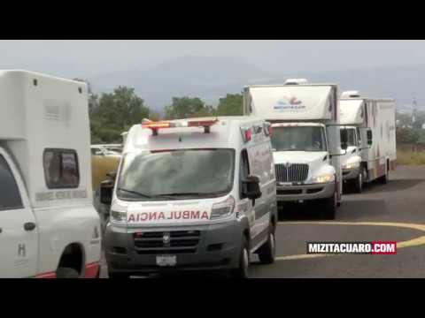 Salen de Michoacán convoyes de ayuda humanitaria para Morelos