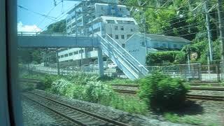 2018 08 車窓・JR東海道線 E231系・平塚~小田原