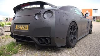 1400HP Nissan GT-R JM1400R - Start, Revs, Flames, Accelerations!