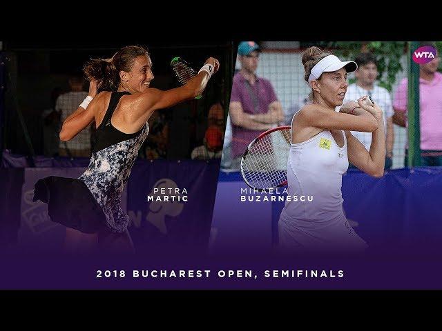 Petra Martic vs. Mihaela Buzarnescu | 2018 Bucharest Open Semifinals | WTA Highlights