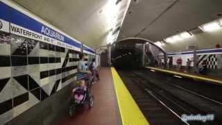 Boston - MBTA Blue Line - Aquarium station