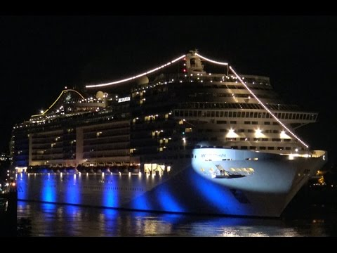 MSC SPLENDIDA Plays Songs With Shiphorn We Will Rock You - Best cruise ship songs