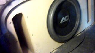 audioque hdc 3 15 subwoofer trunk wall installed