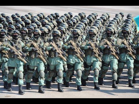 Military Parade Kazakhstan army - The Best Hell March Bоенный Парад Казахстана 2017
