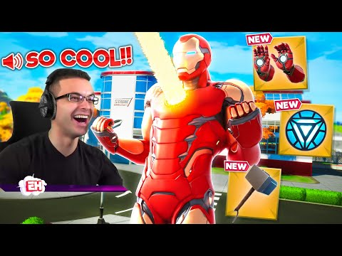 Nick Eh 30 reacts to Iron Man MYTHIC WEAPON and MAP CHANGE!