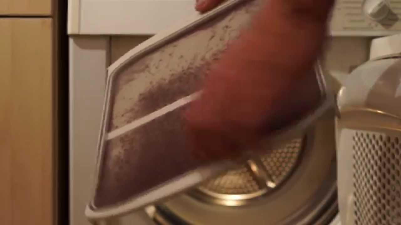 Haushaltstipp: flusensieb im wäschetrockner reinigen youtube