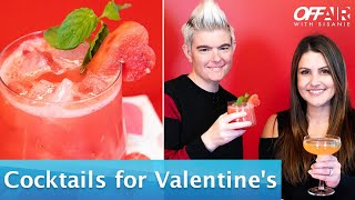 Easy Cocktails to Make for Valentine's Day | Off-Air With Sisanie