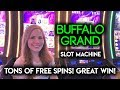 INSANE Amount of Free Spins on Buffalo Grand Slot Machine ...