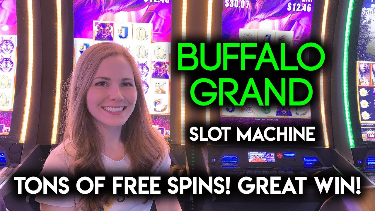 INSANE Amount of Free Spins on Buffalo Grand Slot Machine! BONUS NICE WIN!