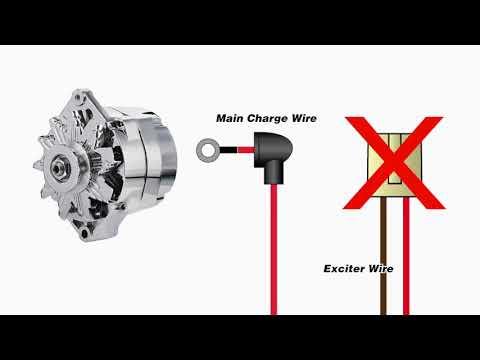 One Wire Alternator Warning Light - YouTube