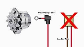 One Wire Alternator Warning Light - YouTube | Tuff Stuff Alternator Wiring Diagram |  | YouTube