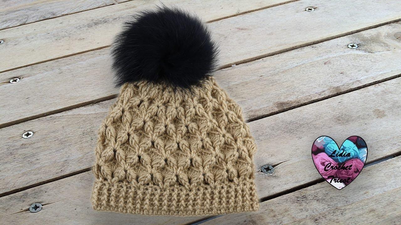 899196387db Bonnet point relief crochet toutes tailles. Lidia Crochet Knitting