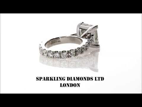 5CT PRINCESS CUT DIAMOND BESPOKE ENGAGEMENT RING.