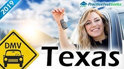 Texas TX DMV Driving Permit Test 2019