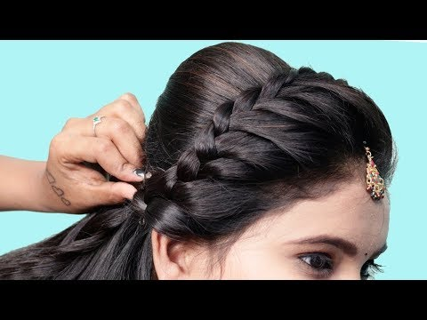 Wedding Guest hairstyles for long hair | Elegant bun hairstyle | Easy hairstyles | Juda hairstyle thumbnail