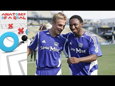 MLS All-Star Landon Donovan sets up Taylor Twellman vs Fulham 2005 | Anatomy of a Goal