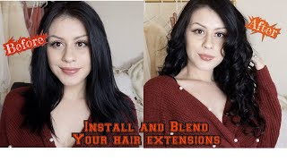 DIY| How to install tape in extensions |Amazing Beauty Hair Extensions| installation & tips