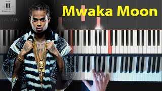 Kalash  Mwaka Moon ft Damso  Piano tutorial facile