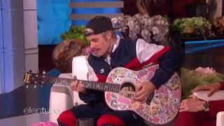 """Justin Bieber - """"Yummy"""" acoustic @ The Ellen Show. (January 2020)"""