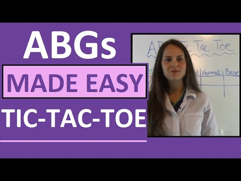 ABGs Made Easy For Nurses W/ Tic Tac Toe Method For Arterial Blood Gas Interpretation