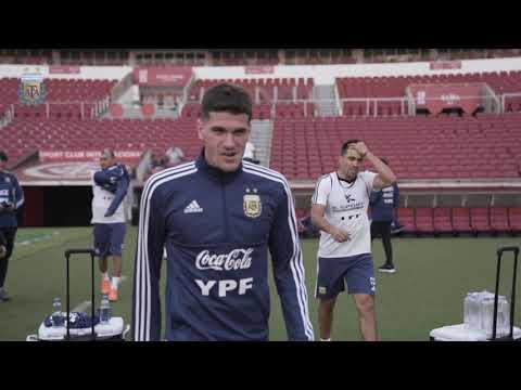 #SelecciónMayor Primer entrenamiento del equipo en el estadio Beira Rio de Porto Alegre