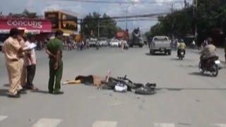 """Vượt giao lộ """"tử thần"""", nữ sinh chết thảm dưới bánh xe bồn"""