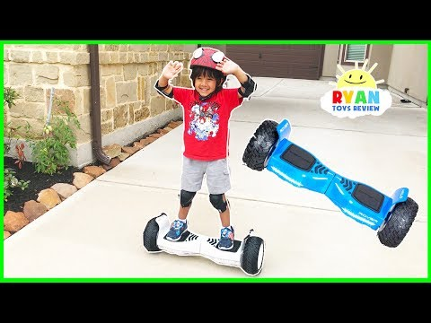 Thumbnail: HOVERBOARD CHALLENGE!!! Halo Rover Family Fun Playtime with Ryan ToysReview