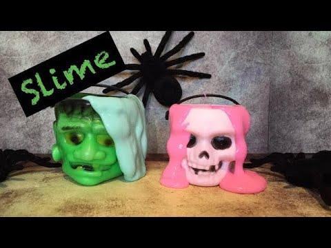 Halloween slime recipe  kids craft day