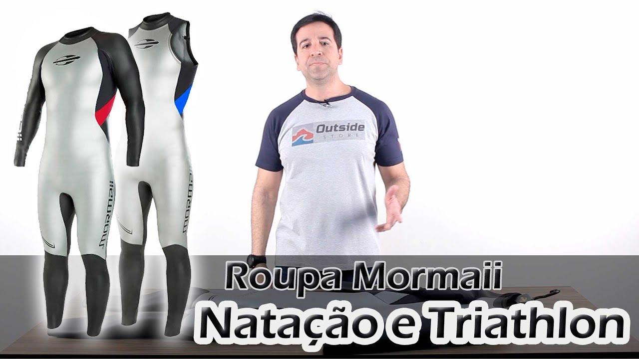 ee02103ee Wetsuit ou Roupa de Natação e Triatlo Mormaii Atlhon 2 - YouTube