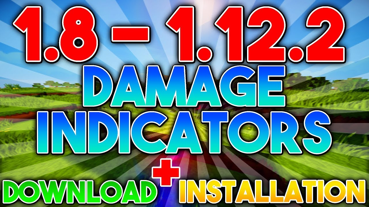 майнкрафт 1.12 2 damage indicators