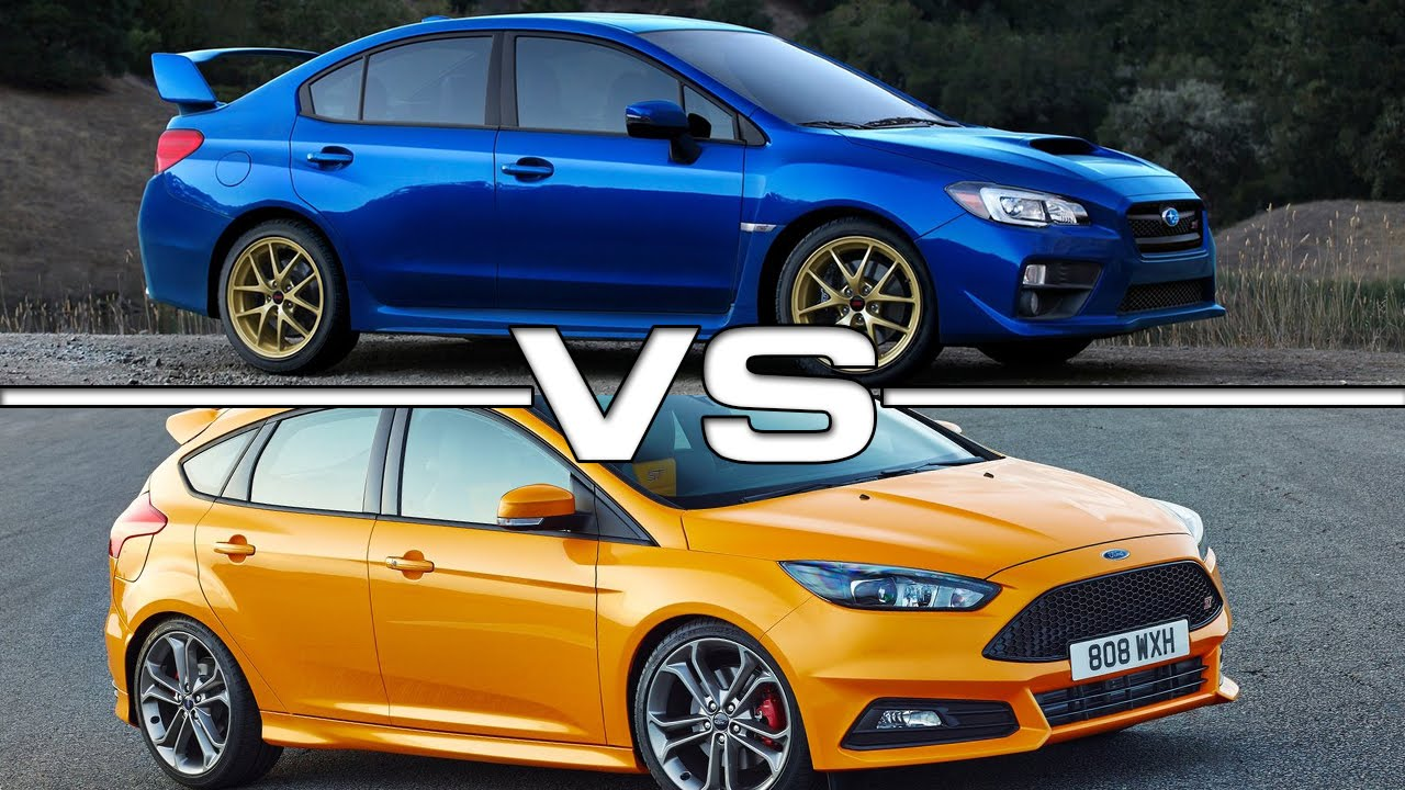 2015 subaru wrx sti vs 2015 ford focus st youtube. Black Bedroom Furniture Sets. Home Design Ideas
