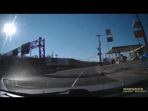 NJ 1-9 Illegal U-Turn Dashcam