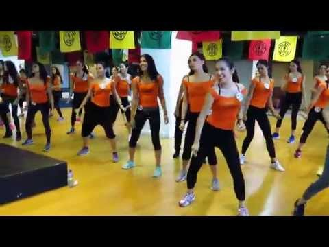 Bb. Pilipinas 2015 Candidates Dancing at Gold's Gym Philippines
