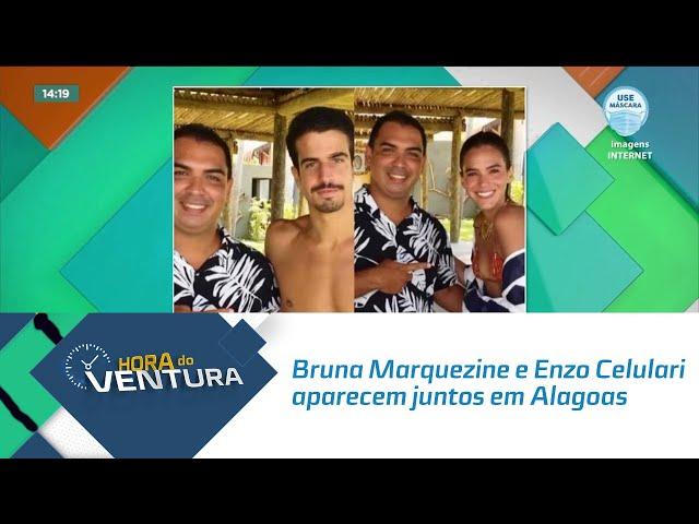 Bruna Marquezine e Enzo Celulari aparecem juntos em Alagoas