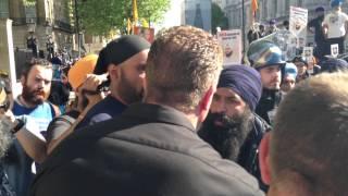Sikhs/EDL on Whitehall
