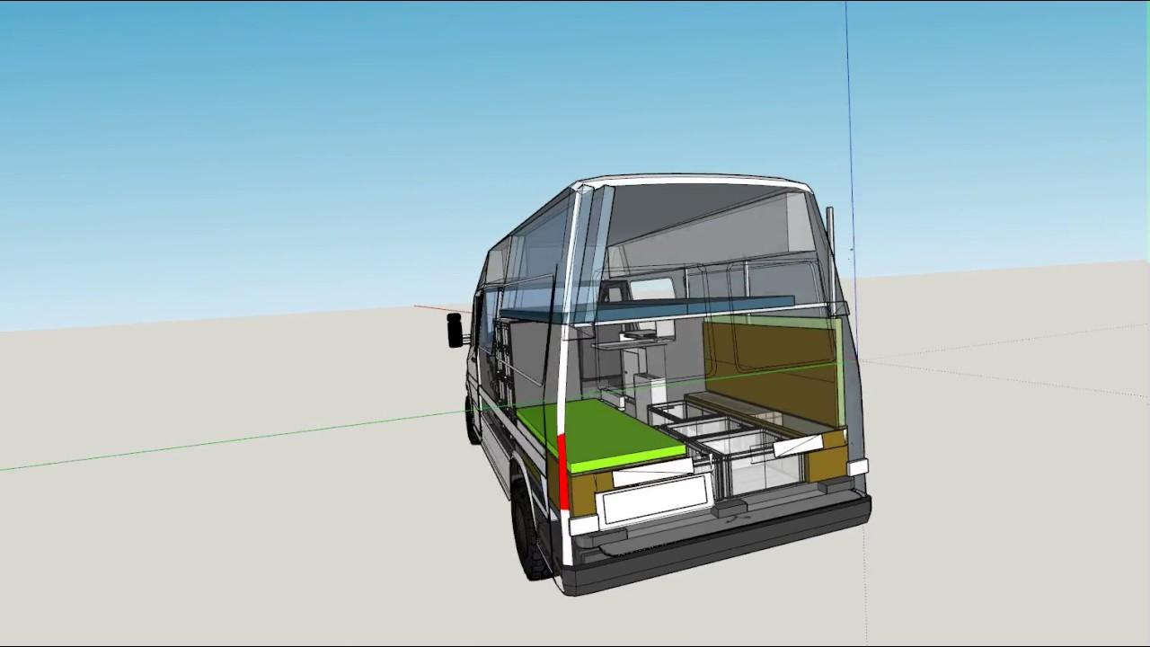 Mercedes Rv Van >> 3D Sketchup of Sprinter 4x4 - YouTube