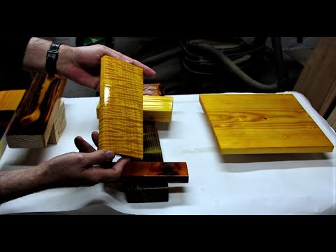 Yellow Wood Stain Colors and Polyurethane Using Yellow Dye Powder From Keda Dye With Polyurethane