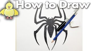 How to Draw the Spiderman Logo - Drawing Tutorial - Step by Step