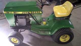 LOT 2364A Running John Deere 116 Hydro Tear Down for Parts
