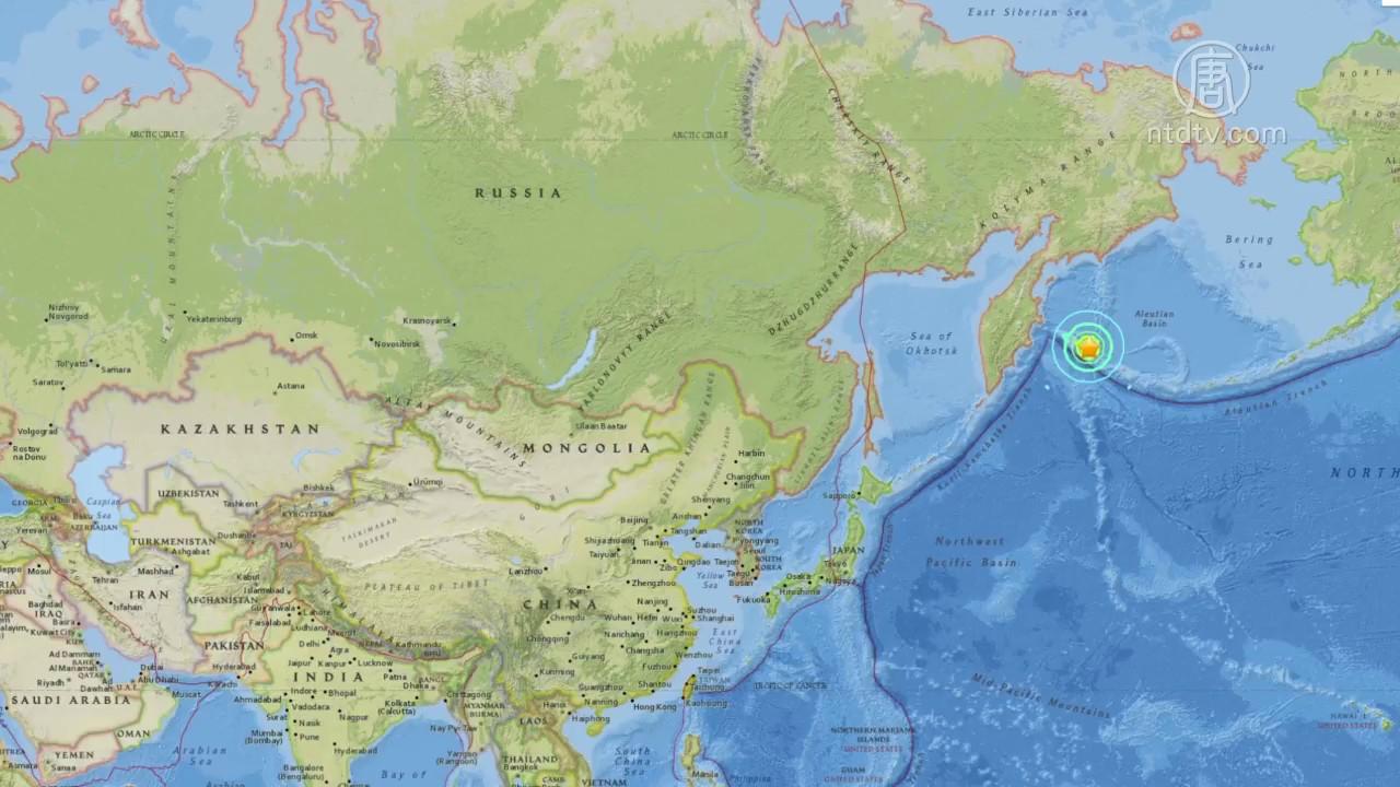 北太平洋_北太平洋美俄交界处 发生浅层7.8强震(阿留申群岛_堪察加半岛 ...