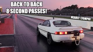 Made My FASTEST PASS EVER In The Twin Turbo Mr2! (So Far)