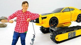 Фёдор прокачал Автобота. Бамблби – гусеничный вездеход!