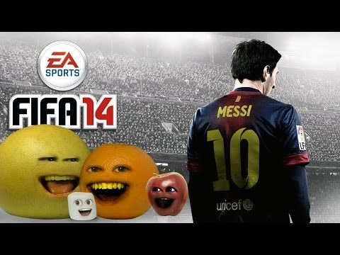 Annoying Orange Let's Play - FIFA 14 (Orange & Midget Apple VS. Marshamallow & Grapefruit)