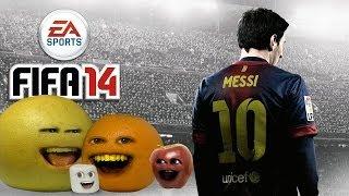 Annoying Orange Let's Play - FIFA 14 (Orange & Midget Apple VS. Marshamallow & Grapefruit)