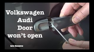 How to open VW door which won't open from inside and outside