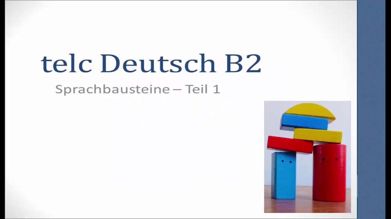 Prüfungsvorbereitung Telc Deutsch B2 Sb2 Korrektur Nr 9 Ist B
