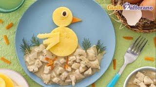 Polenta Chick With Chicken Stew - Kid Friendly Recipe