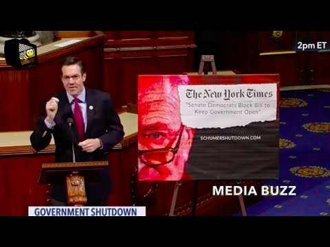 Republicans And Democrats in Congress Give Speeches On Government Shutdown 1/21/18