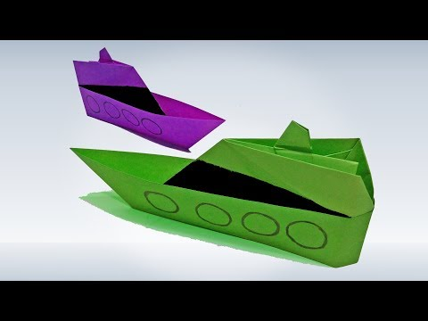 How To Make an Origami Paper Ship - Paper Ship Making Tutorial - DIY Origami Paper Crafts